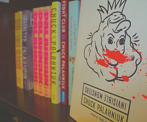 books, chuck palahniuk, and invisible monsters image