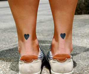 tattoo, heart, and hearts image
