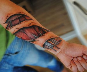 muscle, realistic, and tattoo image