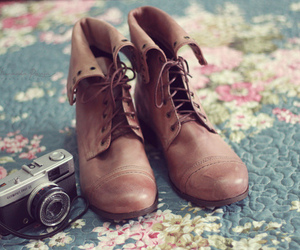 camera, shoes, and boots image