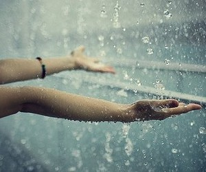 couple, rain, and hands image
