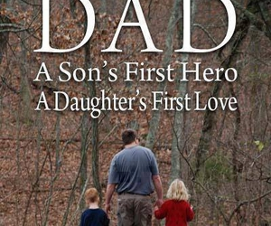 dad, daughter, and hero image