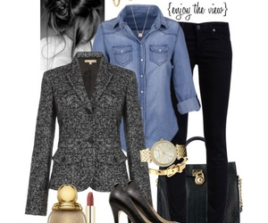 combinations, fashion, and jeans blouse image