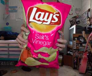lays, pink, and food image