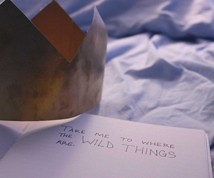 where the wild things are and text image