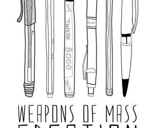 books, creation, and weapons image