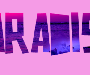 beach, purple, and water image