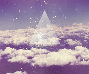 sky, triangle, and clouds image