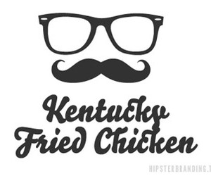 hipster, KFC, and mustache image