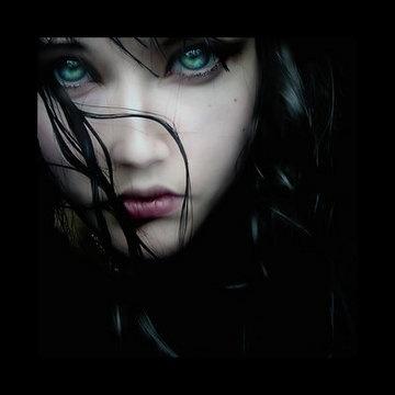 eyes and dark image