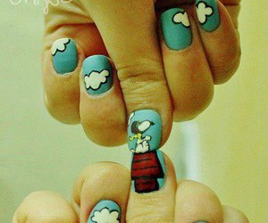 nails and snoopy image