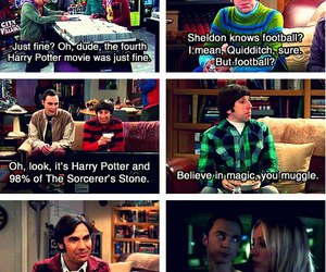 harry potter, the big bang theory, and big bang theory image