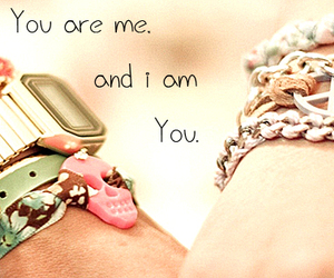 love, bracelet, and quote image