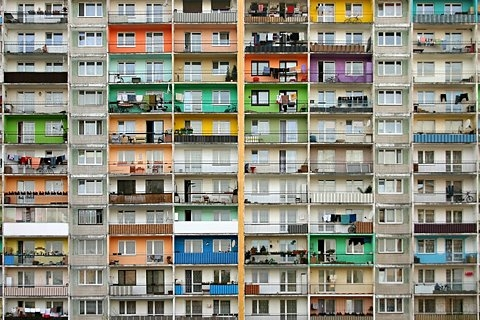 apartment block, architecture, and colours image