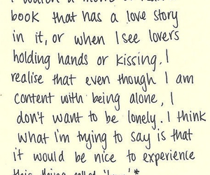 love, quote, and alone image