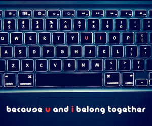 keyboard, letters, and u image