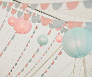 balloons, blue, and interior image