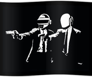 black and white, pulp fiction, and daft punk image