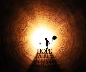 hope, light, and quotes image