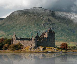 castle, mountain, and scotland image