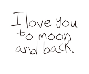love, moon, and text image