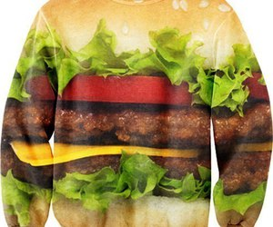 food, hamburger, and sweater image