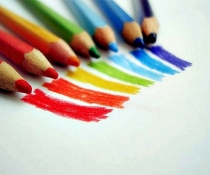 rainbow, colors, and pencil image
