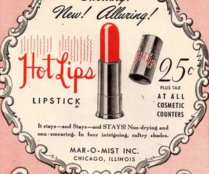 lipstick, vintage, and red image