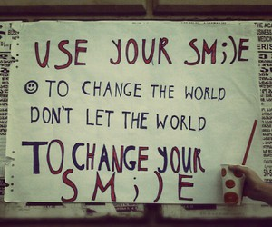 change the world, smile, and street art image