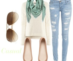 casual, flats, and jeans image