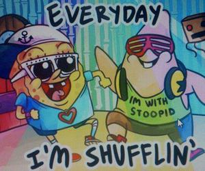 spongebob, patrick, and shufflin image