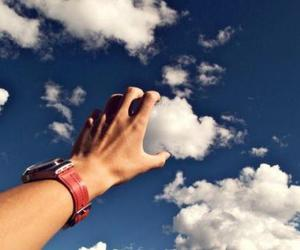 cloud, Dream, and hand image