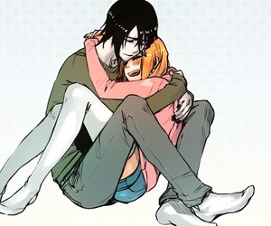 anime, bleach, and couple image