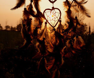 Dream, dreamcatcher, and heart image