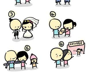 love, life, and couple image