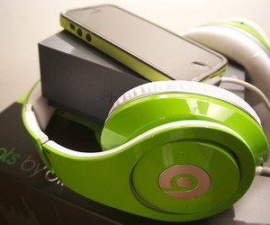 beats, iphone, and green image