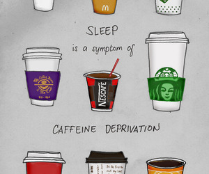 coffee, starbucks, and sleep image