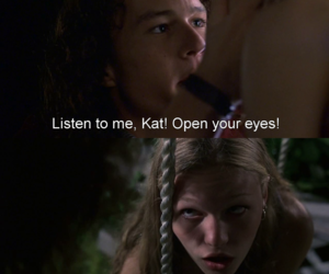 10 things i hate about you, heath ledger, and Julia Stiles image