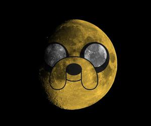 JAKe, moon, and adventure time image