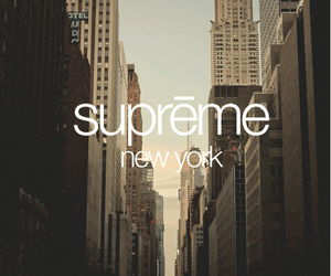 supreme, new york, and city image