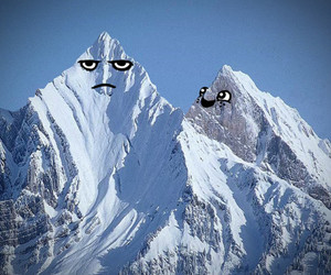 mountains, funny, and lol image