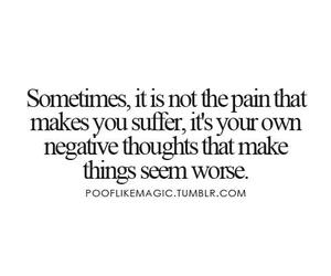 pain, negative, and quote image