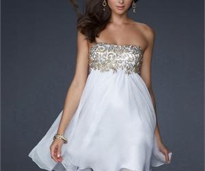 dress, elegant, and short image