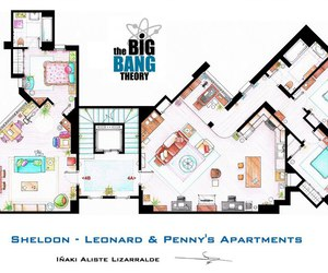 the big bang theory, penny, and apartment image