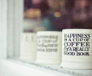 book, coffee, and happiness image