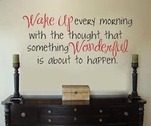 quote, wonderful, and wake up image
