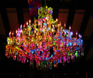 light, colorful, and chandelier image