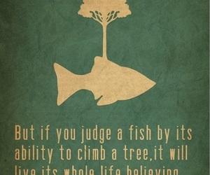 quotes, fish, and genius image