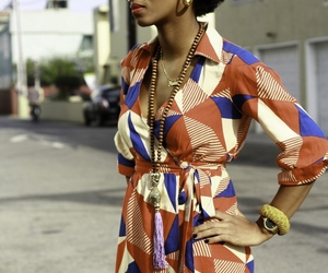 70's, Afro, and dress image
