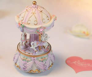 carousel, horse, and music box image